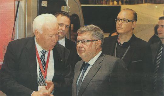 Joseph Libner, Francois Libner et le secrétaire d'Etat au transport